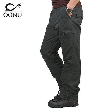 2017 Winter Double Layer Thick Men Cargo Pants Casual Warm Baggy Cotton Trousers For Men's Pants Military Camouflage Tactical X1