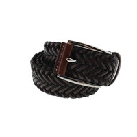 Tommy Bahama Mens Genuine Leather Braided Casual Belt