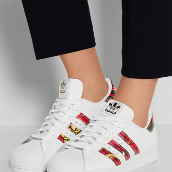 adidas Originals | + Rita Ora Superstar 80s printed leather sneakers | NET-A-PORTER.COM