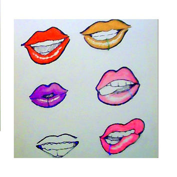 Custom 18 gauge faux Lip  Ring - No piercing required ( clip on) choose a colour