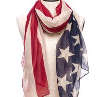Foreign Exchange :: WOMEN :: RED AMERICAN FLAG SCARF