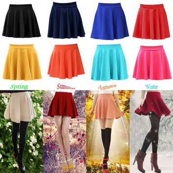 Summer Fashion Women's Mini Sexy Skirts, Candy Color Skirts (9 Colors) = 5987548289