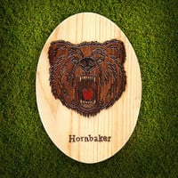 Grizzly Bear Personalized Wooden Pyrography Painting