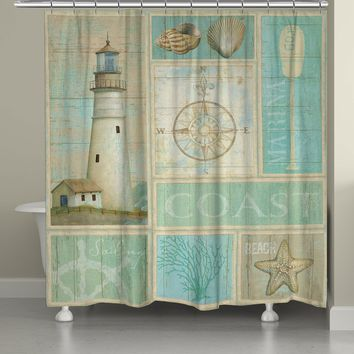 Coastal Mix Shower Curtain