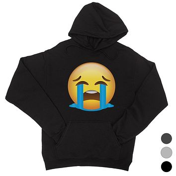 Emoji-Crying Unisex Pullover Hoodie Tough Understanding Sad Gift
