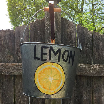 Galvanized Handled Lemon Bucket
