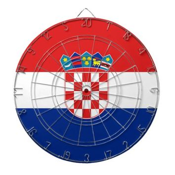 Dartboard with Flag of Croatia
