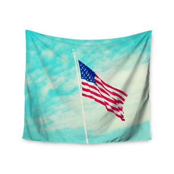 "Robin Dickinson ""USA Colors"" Flag Wall Tapestry"