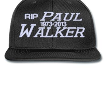 paul walker rip embroidery hat - Snapback Hat