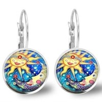 Celestial Sun Moon Earrings