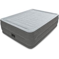 "Intex Queen 22"" Dura-Beam High Rise Airbed Mattress with Built-In Electric Pump - Walmart.com"