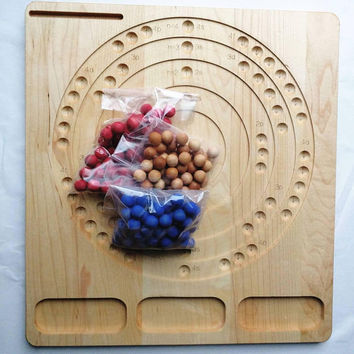 Bohr atomic model board - STEM gift - Chemistry manipulative - Montessori - Waldorf