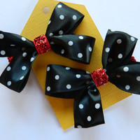 Minnie Mouse Hair Bows - Set Of 2 on Luulla