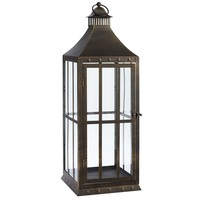 Metal Nailhead Lantern - Large