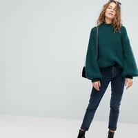 Weekday Rib Crew Neck Sweater at asos.com