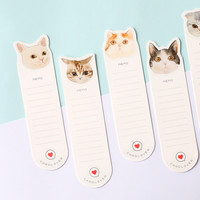 30 pcs/lot DIY Cute Cats Kitty Kitties Kawaii Paper Bookmark Lovely Book Marks For Books Kids Gift Stationery
