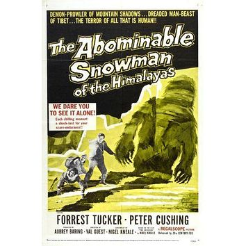 Abominable Snowman The poster Metal Sign Wall Art 8in x 12in