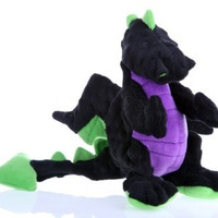 DOG TOYS - PLUSH - GODOG DRAGON DOG TOY  BABY - BLACK
