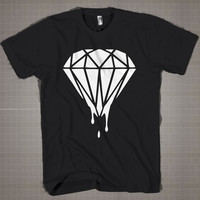 Dripping Diamond  Mens and Women T-Shirt Available Color Black And White