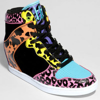 Y.R.U. Clutch Animal Print Hidden Wedge Sneaker