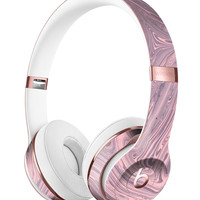 Marbleized Swirling Pink and Purple Full-Body Skin Kit for the Beats by Dre Solo 3 Wireless Headphones