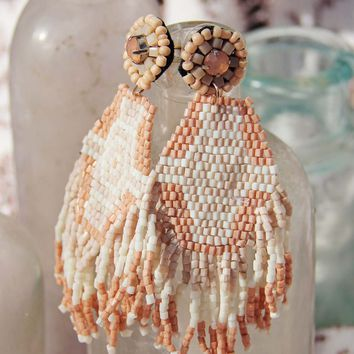 Sundar Earrings in Dusty Pink