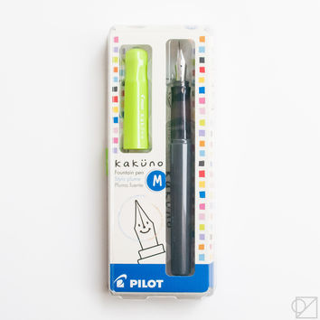 Kakuno Medium Nib Fountain Pen Lime Green