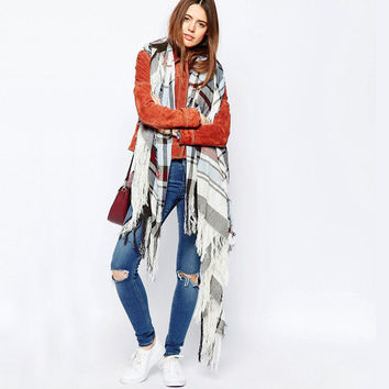 Stripes Tassels Scarf [9184248452]