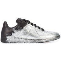 Metallic Splash Sneakers by Maison Margiela