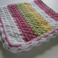 Granny Stripe Blanket  Cheerful Colors
