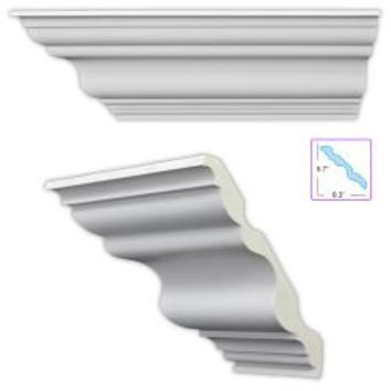 Traditional 5.5-inch Crown Molding (8 pack) - Free Shipping Today - Overstock.com - 13329382 - Mobile