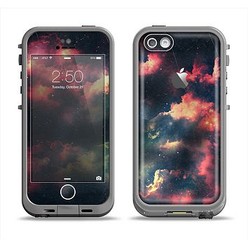 The Vintage Stormy Sky Apple iPhone 5c LifeProof Fre Case Skin Set