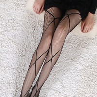 Women Fishnet Stockings Tights Sexy Black Pantyhose