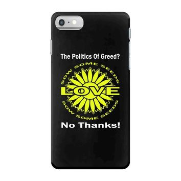 political the 80's 60's hippy anti capitalism iPhone 7 Case