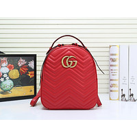 GUCCI WOMEN'S LEATHER GG MARMONT BACKPACK BAG