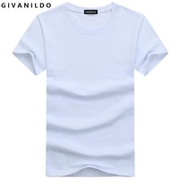 Givanildo 5XL Blank T-Shirt Men T Shirt Short Sleeve Tshirts Solid Cotton Homme Tee Shirt 4XL  Summer Clothes BY014