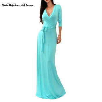 Sexy Women Long Dress Female Casual Bohemian bodycon Dresses Summer Vestidos