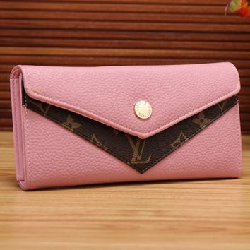 One-nice™ Perfect LV Women Shopping Fashion Leather Buckle Wallet Purse