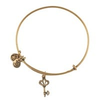 Skeleton Key Charm Bangle