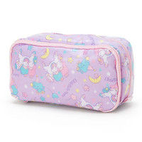 Little Twin Stars Laminate Pen Case Pencil Pouch Purple Sanrio Japan Kiki Lala