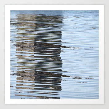 Reflections of a river, meanderings of a mind Art Print by anipani