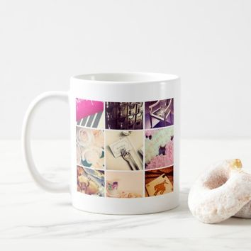 Custom Instagram Photo Collage Coffee Mug
