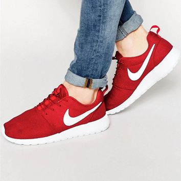 """""""NIKE"""" Roshe One Fashion And Classic Shoes Women Men Casual Sport Shoes Sneakers Red"""