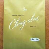 Vintage Sears Cling-alon Hosiery New Old Stock Size 8-9 Petite Toast