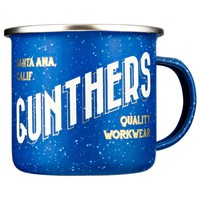 Gunthers Blue Enamel Camping Mug