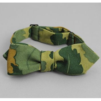 Handmade,Made to Order Military Green Twill Camo Neck Tie Ships n /<48