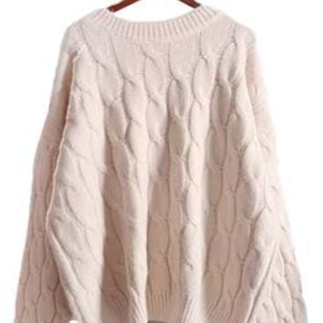 'Bambi' Cable-knit Sweater (4 Colors)