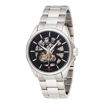Kenneth Cole New York KC3898 Men's Black Dial Silver Stainless Steel Strap Automatic Bracelet Watch