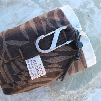 Dog Treat Bag Pouch with Carabiner & Belt Loop, Puppy Treat Training Bag, Dog Walks Hikes, Animal Lover Gift, Draw String Pouch, Dog Cookies