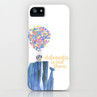 adventure is out there.. cursive iPhone & iPod Case by studiomarshallarts | Society6